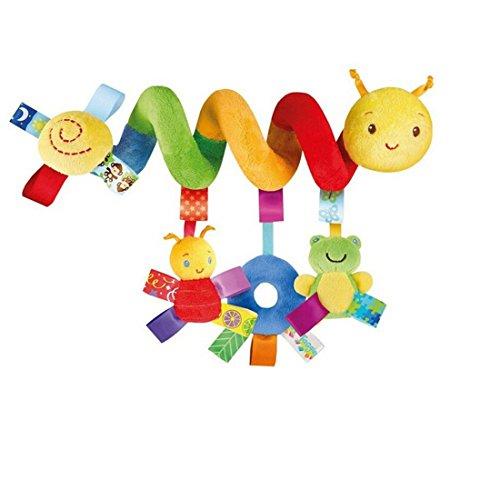 Lalang Baby Plüschtiere, Kleinkindspielzeug,Beschwichtigen Schlaf Spielzeug,Kinderwagen, der Spielzeugauto-Drehmaschine hängenden Baby Rasseln, Farbige Insekt