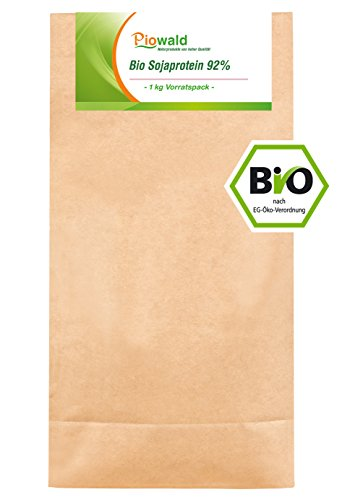 BIO Sojaprotein 92{7dcc00180b5a858b12fc7f400a8e768df401256e6959fc31521e63e38b09464c} - 1 kg Vorratspack, Soy Protein