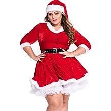 Baymate Déguisement Noël Mère Costume Adulte Soirée/Fête Cosplay Robe Grande Taille