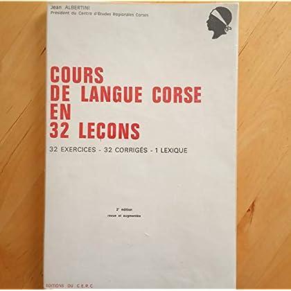 Cours de langue corse en 32 leçons 32 corriges 1 lexique