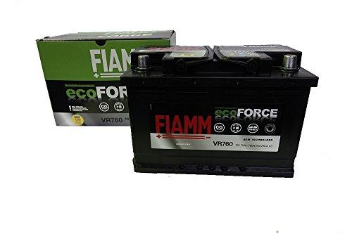SMC Batteria Auto FIAMM VR760 ecoFORCE AGM Start&Stop 70Ah 760A 278x175x190