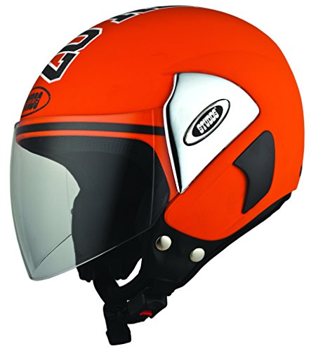 Studds Cub 07 SUS_C07OFH_OREXL Open Face Helmet (Orange, XL)