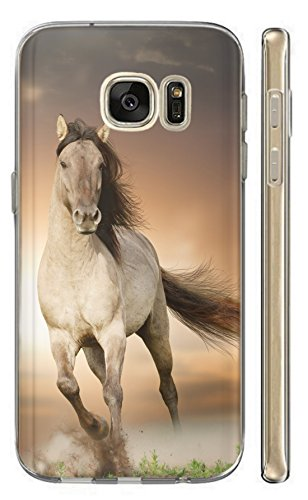 Kuna-Mobile Hülle Motiv 1005 Pferd Braun Weiß Hengst Handyhülle für Handy Silikon Hülle Backcover Schutz Hülle Soft Cover TPU Handy Case (Hülle für Huawei P8 Lite 2017)