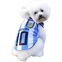 Dog Clothes Football T-shirt Dogs Costume National Soccer World Cup FIFA Jersey for Pet Argentina