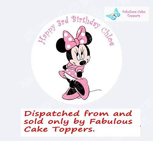 Fabulous Cake Toppers Décoration de gâteau personnalisé avec Minnie Mouse, en pâte à Sucre 19,1 cm Image 5