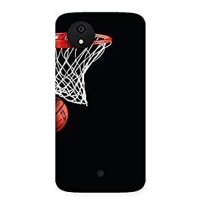 Cute Basket Ball Multicolor Back Case Cover for Micromax Canvas A1