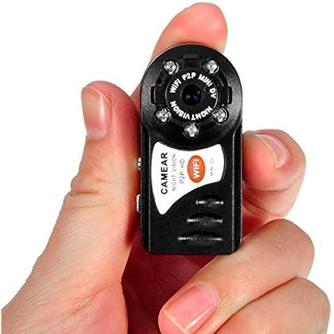 Qijitech HD DV Oculta mini cámara de video Grabadora Con Función de Audio para inspección