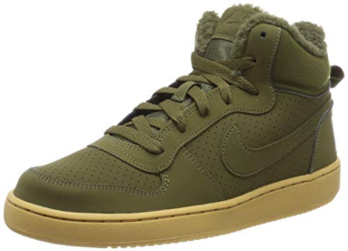 Nike Herren Court Borough MID WNTR GS Fitnessschuhe, Mehrfarbig (Olive Canvas/Olive Canvas 300), 38.5 EU -