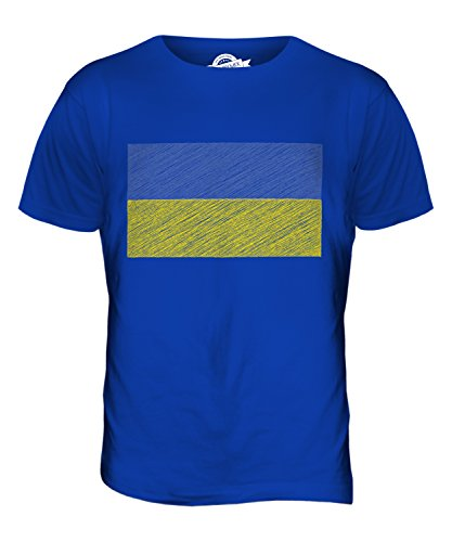 CandyMix Ukraine Kritzelte Flagge Herren T Shirt Königsblau