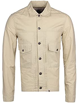 Pretty Green Reed Stone Pleated Cotton Linen Overshirt