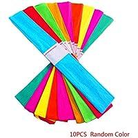 Fogli 10pcs Craft Rotolo di Carta Crepe Wrapping Fiorista Streamers  Birthday Party Decoration Hanging Colore Casuale 44211c23818b