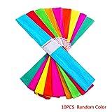 Bodbii, 10 rotoli di carta crespa per fioristi, decorazione di feste, compleanni, Legno, Inviate i colori a caso (lo stesso colore)., 50*6.5cm