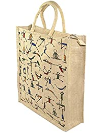Shuban Jute Eco Friendly Multipurpose Lunch Bag for Unisex (196x5x14 Inches, Multicolour)