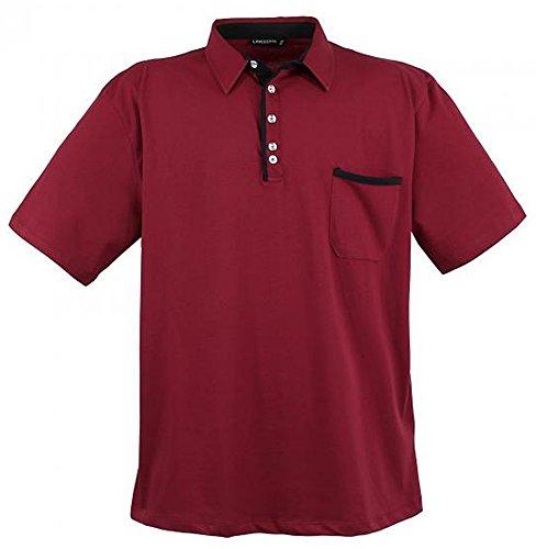Übergrössen !!! WOW !!! Hippes Polo-Shirt Kurzarm LAVECCHIA 3 Farben LV-1701 Dunkelrot