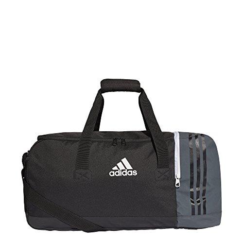 adidas S98392 Tiro Teambag M Borsone, 27 cm x 60 cm x 29 cm, Nero / Grigio scuro / Bianco
