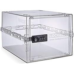 Lockabox One | Boîte de rangement verrouillable compacte et hygiénique pour la nourriture, les médicaments et les articles ménagers