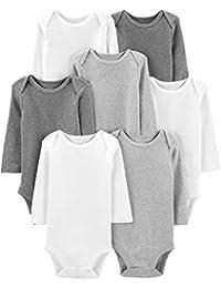 Simple Joys by Carter\'s 7-Pack Long-Sleeve Bodysuit Unisex bebé