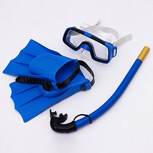 CRSM Kinder Tauchmaske Set Anti-Fog Schwimmbrille Maske Schnorchel Flossen Anzug Geeignet Für Kinder Jungen Und Mädchen