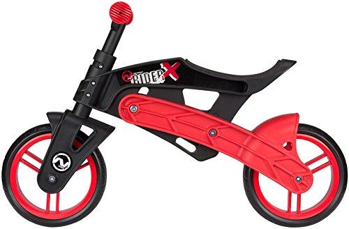 Nijdam Junior Kinder Premium Leicht Laufrad, Schwarz/Rot, One Size