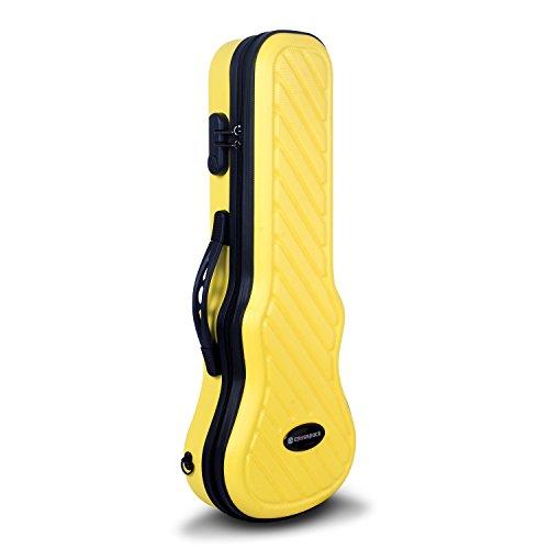 Crossrock CRA400SUYL Hybrid ABS Soprano Ukulele Case, Yellow
