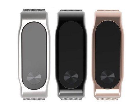 Theoutlettablet® Xiaomi Mi Band 2 Correa de Metal Pulsera Recambio para Mi Band 2 Monitor de Actividad (Color Bronce-Gold))