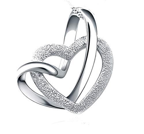Ciondolo cuore argento 925 con custodia elegante in velluto quality silver 925 donna