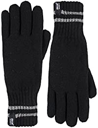 Heat Holders - Mens hi-vis reflective outdoor thermal winter knitted gloves