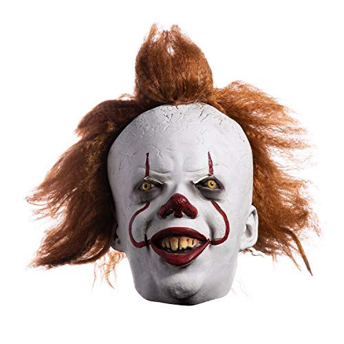 Asvp shop pennywise - maschera da clown spaventosa, in lattice, per halloween