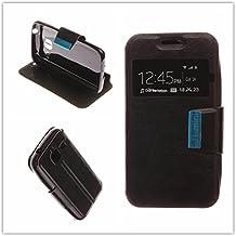 MISEMIYA - Funda Samsung Galaxy J1 mini - Funda Solo, Libro View Sporte,Negro