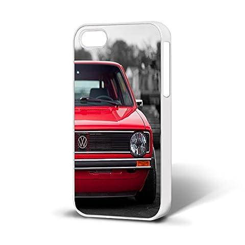 VW Golf MK1GTI Téléphone Coque arrière rigide pour iPhone 5C Etui Blanc.