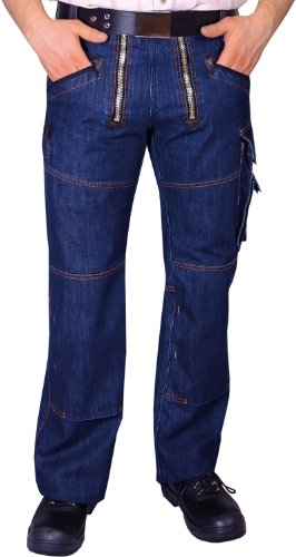 OYSTER Zunft-Hose Arbeits-Hose Jeans Stretch - blau