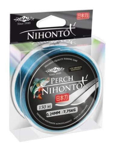 Mikado Angelschnur NIHONTO Perch monofile 0,12-0,24mm Spule 150m (0,24mm/7,75kg)