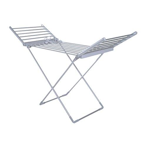 Homcom® Beheizbarer Flügelwäscheständer Wäschetrockner Wäscheständer Wäschegestell Trockengestell Faltbar