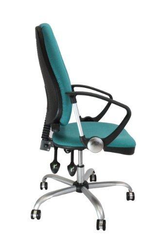 Eliza Tinsley 300HBSY/AAQ High Back Task Operator Armchair with Silver Effect Base - Aqua