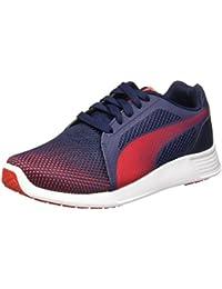 Puma - Zapatillas de nordic walking de Lona para niño azul azul/rojo