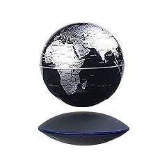 Idea Regalo - MostroMania - Mappamondo Magnetico con Effetto Levitazione - Globo con Base Elettromagnetica - Mappamondo Magico - Decorazione da Tavolo - Accessori Originali