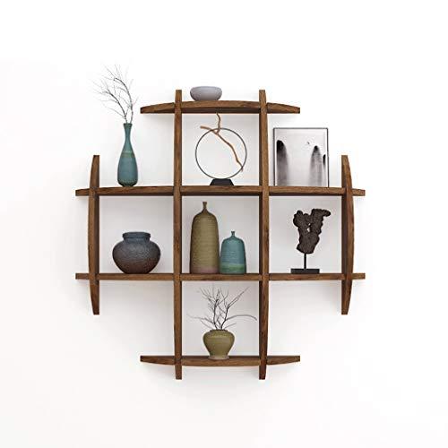 Dyy portaoggetti da parete in legno massello portabottiglie da soggiorno parete attrezzata per scaffali da cucina cornice decorativa personalizzata (dimensioni : a)