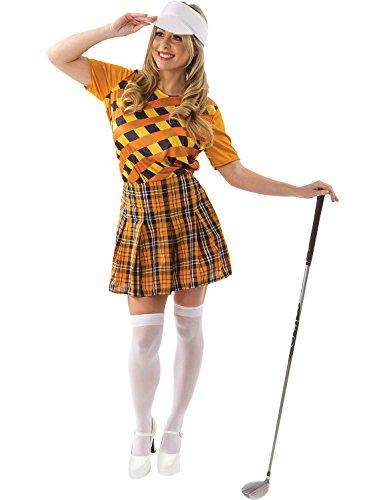 Kostüm Golfspieler Damen (Erwachsene Damen Golf Golfspieler Kostüm der Frauen Karneval)