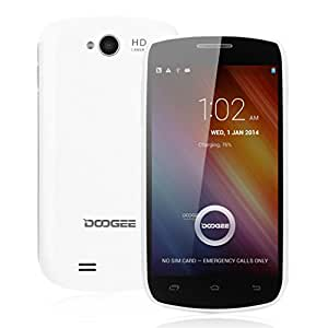"""DOOGEE COLLO3 DG110 Dual Core blanc Smartphone 4.0"""" IPS Grand écran ultra mince Android 4.2 MTK6572 512Mo + 4G ROM Double SIM Double Caméra 2.0MP & 0.3MP support GPS, WIFI, OTG - Compatible avec Orange/ SFR/ Bouygues/ Free"""