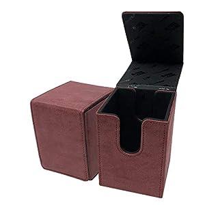 Ultra Pro E-85770 - Caja con Tapa para Cartas (Gamuza), Color Rojo