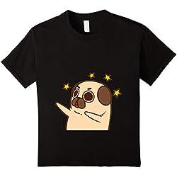 pug dabbing tshirt - Camiseta - Unisex adulto negro Tamaño de la cintura:90 cm