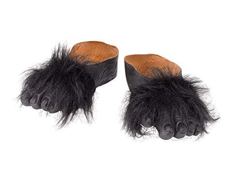 5 Gorilla Füße, Unisex- Erwachsene, schwarz, Einheitsgröße ()