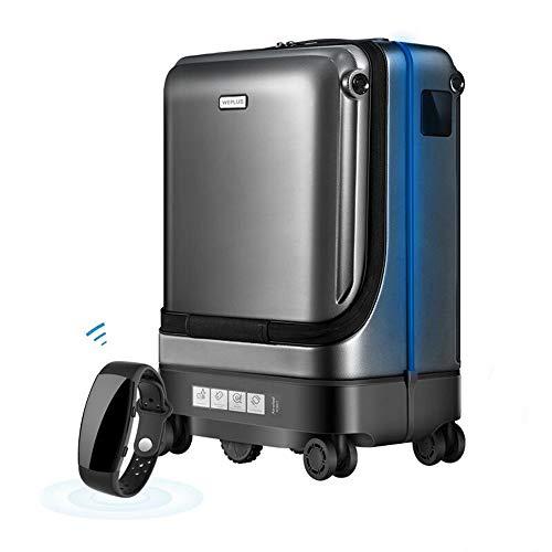 ea693075102e AUNLPB Electric Smart Follow Luggage USB de Carga Externa, Maleta con  Ruedas de Viaje/Ruedas giratorias y Equipaje Duradero para Viajes, ...