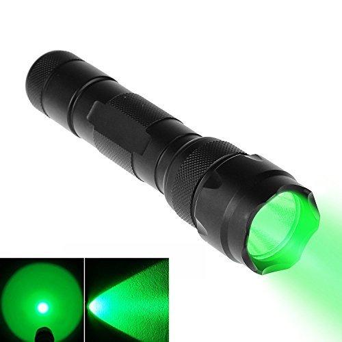 BESTSUN WF-502B grün Tactical Taschenlampe CREE LED 3,7–18V Powered 1-Modus High Lumen Coyote Hog Hunting Light Taschenlampe Ultra Birght-Lampe–Tragbar, Wasser Widerstand (Akku Nicht Enthalten)