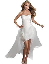 WeWind Nouvelle Robe de Mariage Robe Dos Nu Amincissant Basque Sexy Elégante Robe de Soirée Cérémonie Blanc
