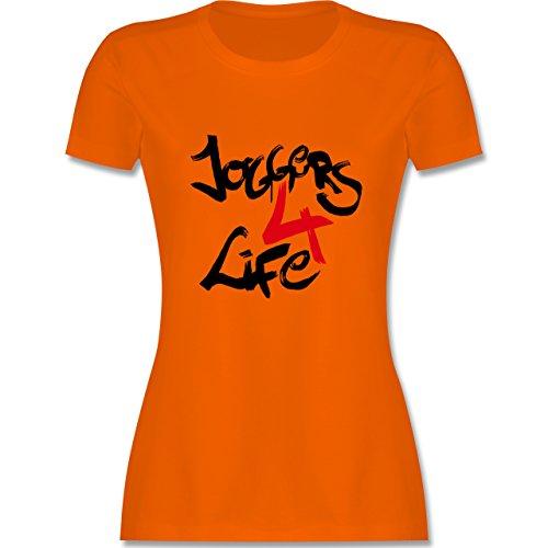 Statement Shirts - Joggers 4 life - tailliertes Premium T-Shirt mit Rundhalsausschnitt für Damen Orange