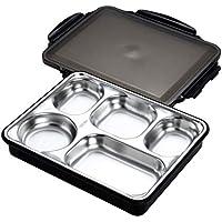 Preisvergleich für Lunch Box Edelstahl Geteilt Teller Mit Schnittdeckel, Edelstahl Geteilt Teller Mit Isolierung Mahlzeit Taschen, BPA Frei