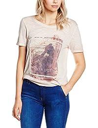 s.Oliver Mit Applikation Und Print, T-Shirt Femme