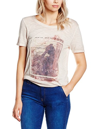 s.Oliver Damen T-Shirt Rosa (light rose placed print 42D3)