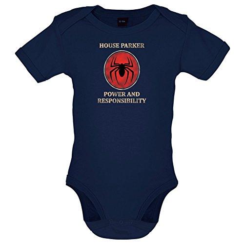 Dressdown House Parker, Power and Responsibility - Lustiger Baby-Body - Marineblau - 6 bis 12 Monate